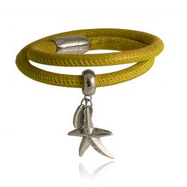 Bransoletka modowa z rozgwiazdą i cyrkoniami zapinana na magnes