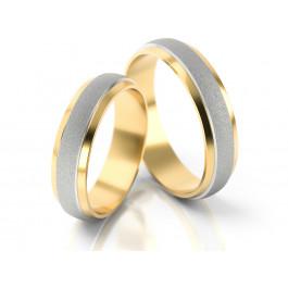 Matowe obrączki z błyszczącymi brzegami z żółtego złota