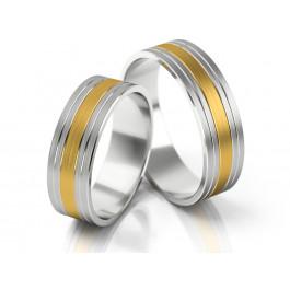 Dwukolorowe obrączki ślubne w nowoczesnym stylu