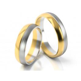 Klasyczne dwubarwne obrączki ślubne