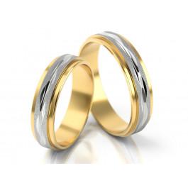 Dwubarwne obrączki ślubne zdobione