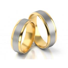 Obrączki ślubne dwubarwne
