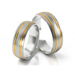 Eleganckie dwubarwne obrączki ślubne