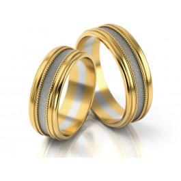 Ekskluzywna dwubarwna obrączka ślubna