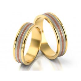 Wielobarwna obrączka ślubna