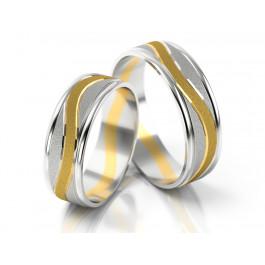 Asymetryczne dwubarwne obrączki ślubne