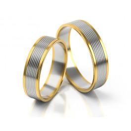 Dwubarwne gustowne obrączki ślubne