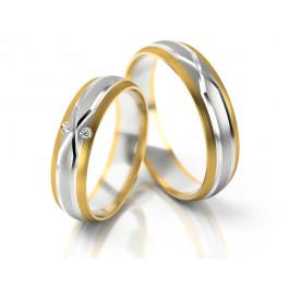 Luksusowe obrączki ślubne z dwoma cyrkoniami