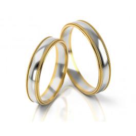 Błyszczące dwubarwne obrączki ślubne