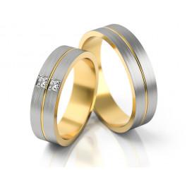 Stylowe obrączki ślubne z dwoma kamieniami