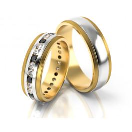 Obrączki ślubne ekskluzywne wysadzane kamieniami