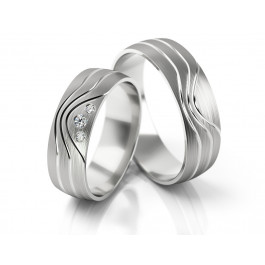 Jednolite obrączki ślubne ze stylowym wykończeniem