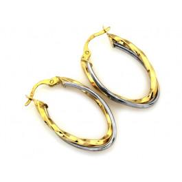 Złote kolczyki podwójne koła