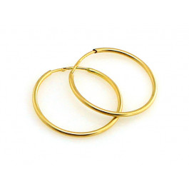 Kolczyki złote koła szarniry
