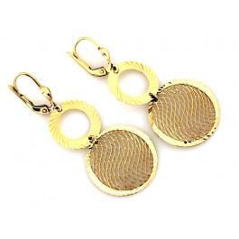 Złote kolczyki z ażurowym zdobieniem