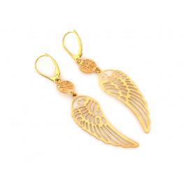 Kolczyki złote wiszące  skrzydła