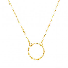 Złoty naszyjnik celebrytka z kółeczkiem