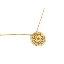 Złoty naszyjnik greckie słońce