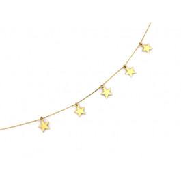 Celebrytka naszyjnik złoty pięć gwiazd