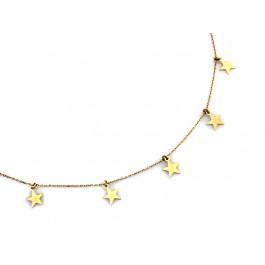 Złoty naszyjnik celebrytka z gwiazdkami