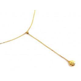 Złoty naszyjnik z diamentowaną kulką