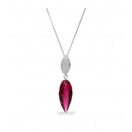 Naszyjnik SPARK z kryształów Swarovski® w kolorze Ruby