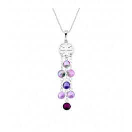 Naszyjnik SPARK z kryształów Swarovski® w kolorach Vitrail Light, Tanzanite, Amethyst i Violet