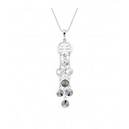 Naszyjnik SPARK z kryształów Swarovski® w kolorach Crystal, Black Diamond i Jet Hematite