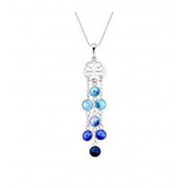 Naszyjnik SPARK z kryształów Swarovski® w kolorach  Aquamarine, Light Sapphire, Sapphire i Montana