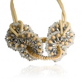Naszyjnik modowy elegancki z kryształkami