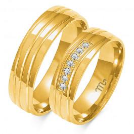 Obraczki ślubne złote, pólokrągłe, 6,00 mm