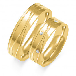 Obraczki ślubne złote, płaskie, 5,50 mm