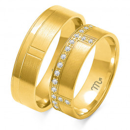 Eleganckie obrączki ślubne z białego złota szykownie zdobione