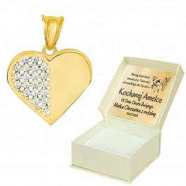 Złota zawieszka serce 585 prezent