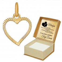 Złote serce diamentowane 333 GRAWER PREZENT