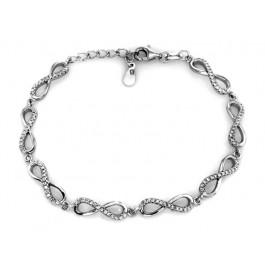 Srebrna bransoletka z cyrkoniami nieskończoność