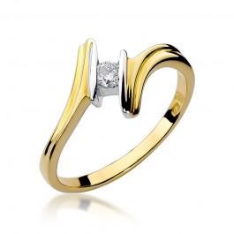 Nietuzinkowy pierścionek z brylantem