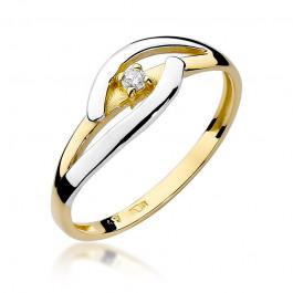 Okazały złoty pierścionek z diamentem