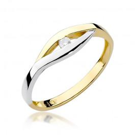 Zniewalający złoty pierścionek z brylantem