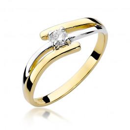 Urzekający złoty pierścionek z brylantem