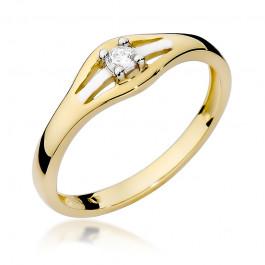 Fascynujący pierścionek zaręczynowy z diamentem