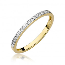 Uroczy złoty pierścionek wysadzany diamentami