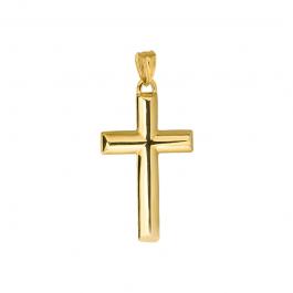 Złota zawieszka gładki krzyżyk