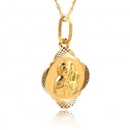 Niepowtarzalny złoty komplet medalik z łańcuszkiem