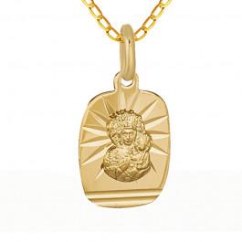 Niesamowity złoty komplet medalik łańcuszek