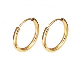 Złote kolczyki klasyczne kółeczka Prezent Grawer GRATIS