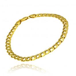 Klasyczna złota męska bransoleta