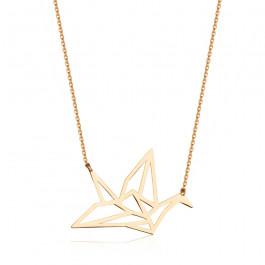 Niesamowicie modny geometryczny złoty naszyjnik Prezent Grawer GRATIS
