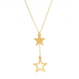 Złoty naszyjnik krawatka z gwiazdkami