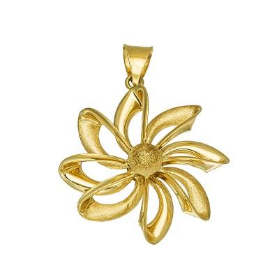 Niesamowita złota zawieszka w kształcie oryginalnego Kwiatka